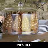 Buy Lidded Glass Cake Stand from The White Company