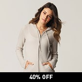 Zip Through Hoodie - Natural