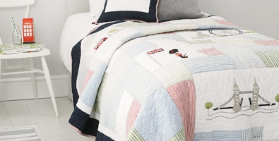 Children's cushions, quilts and throws