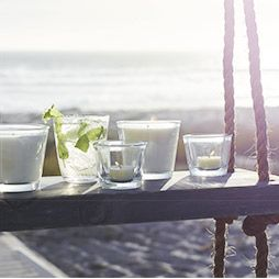 Summer drinks candles and fragrance