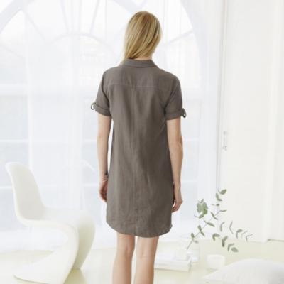 Utility Shirt Dress - Smoke