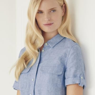 Utility Shirt Dress - Blue