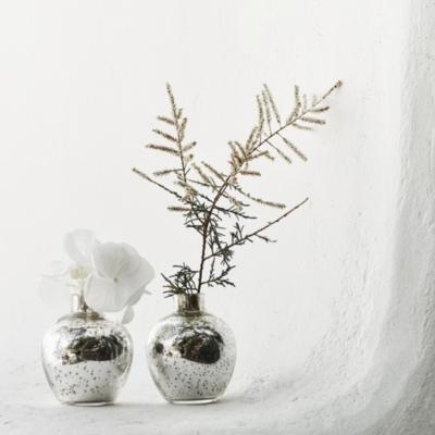 Mercury Mini Antiqued Bud Vase Set of 2