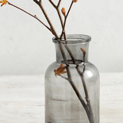 Smoked Glass Small Vase
