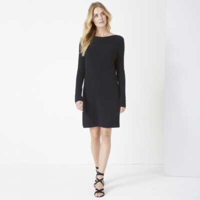 V Back Knitted Dress