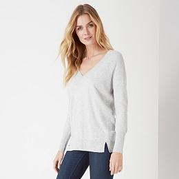 V Neck Back Detail Sweater