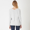 V Neck Back Detail Sweater