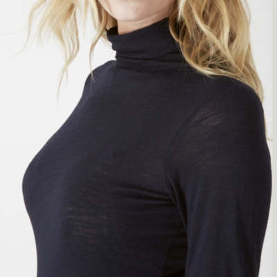 Viscose Blend Raised Neck Top