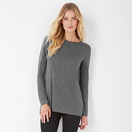 Viscose Blend Longline Swing T-Shirt