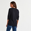 Viscose-Rich V-Neck T-Shirt - Navy