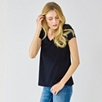 V-neck Devore Swing T-shirt