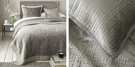 Vienne Quilt & Cushion Covers - Driftwood