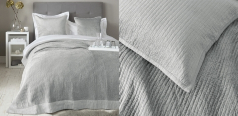 Vienne Quilt & Cushion Covers - Silver