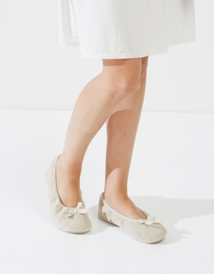 Velvet Ballet Slippers