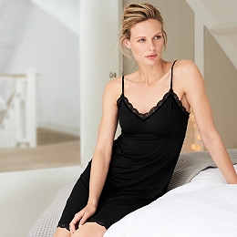 Velvet Trim Nightgown