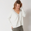 V Neck Rectangular Sweater