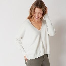 V Neck Rectangular Sweater