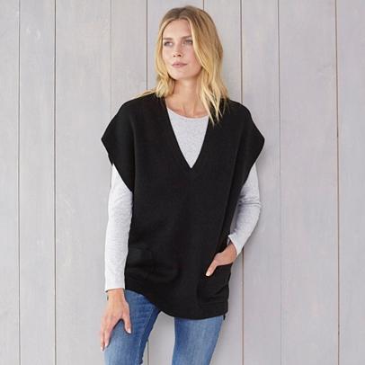 V Neck Oversized Sleeveless Sweater | Sweaters & Cardigans | The ...