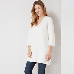 V-Neck Flared Sleeve Tunic