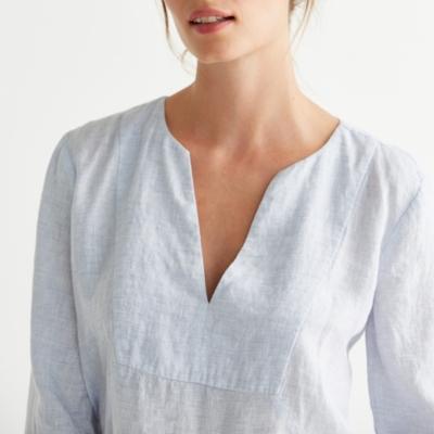 Linen V Neck Tunic