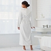 Velour Hooded Robe - White