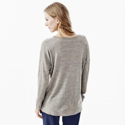 V- Neck Merino Sweater - Mink Marl