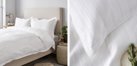 Waffle Stripe Bed Linen Collection