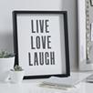 Live Love Laugh Poster Frame