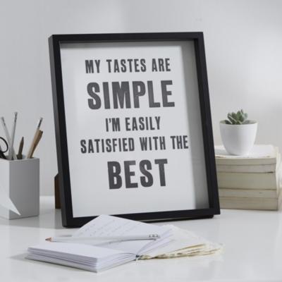 Simple Tastes Poster Frame