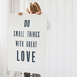'Do Small Things' Poster