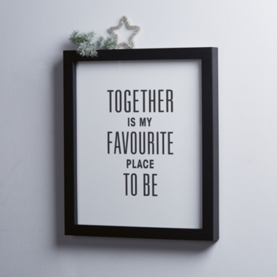 """Together Is My Favorite Place To Be"" Framed Poster"