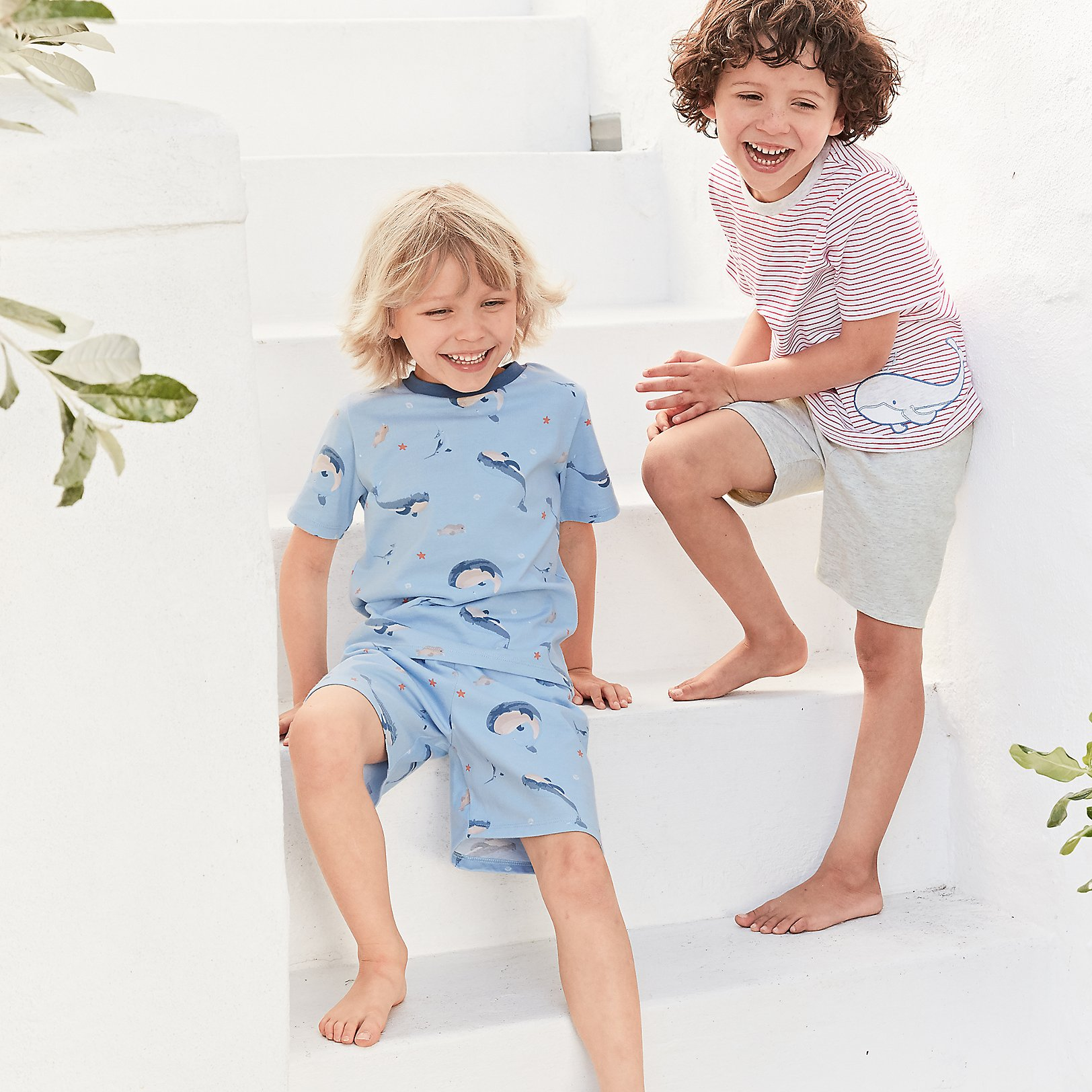 boys nightwear boys the little white company the white whale and friends pyjamas 1 12yrs