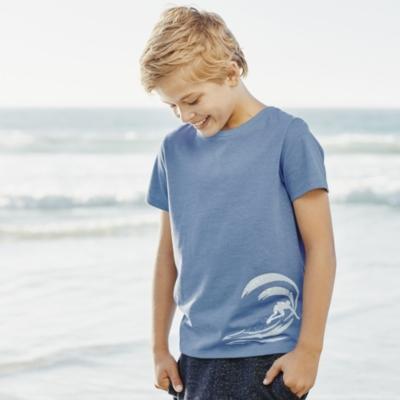 Wave Motif T-Shirt (4-10yrs)
