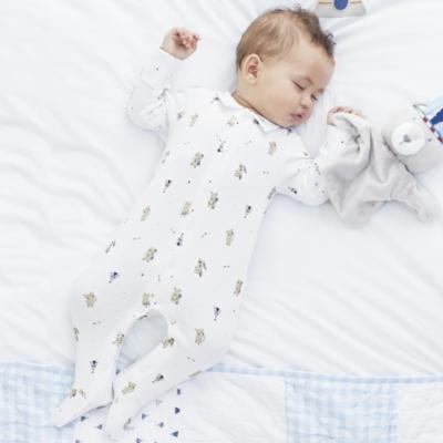 Little Warrior Bear Collared Sleepsuit