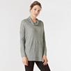 Funnel Neck Longline Top with Wool