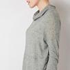 Wool Blend Funnel Neck Longline Top
