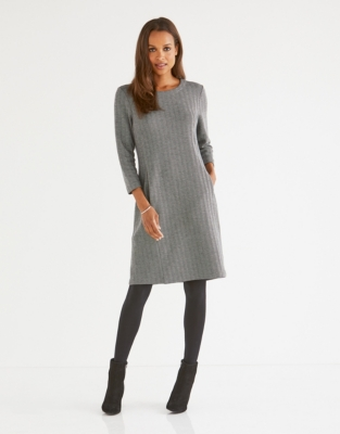 Herringbone Dress with Wool
