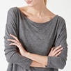 Wool Blend Off The Shoulder Top