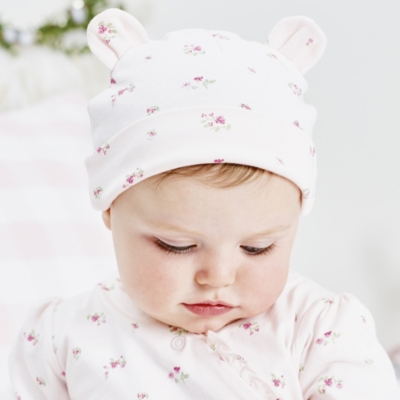 Winter Blossom Hat & Mitt Set