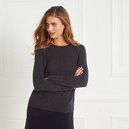 Wool-Cotton Button Shoulder Dress