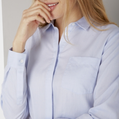 Cotton Washed Shirt - Blue