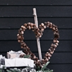 Heart Pinecone Christmas Wreath
