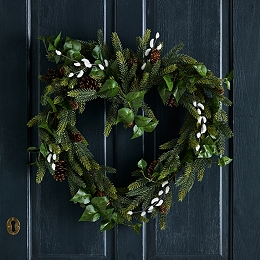 Ivy & Pussy Willow Heart Wreath
