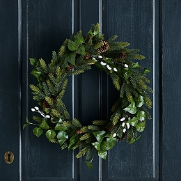 Ivy & Pussy Willow Wreath