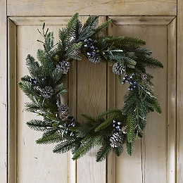 Rosemary & Pinecone Christmas Wreath