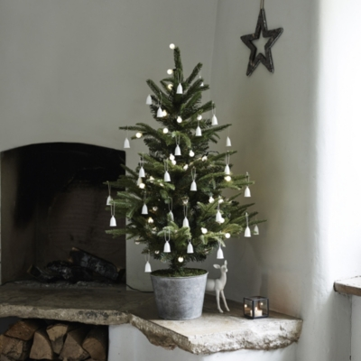 Hanging Bark Star And Treetopper Decoration