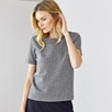 Wool Herringbone Tee