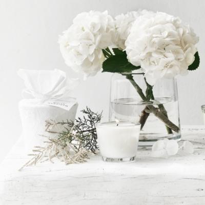 White Hyacinth Candle