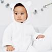 White Fleece Romper