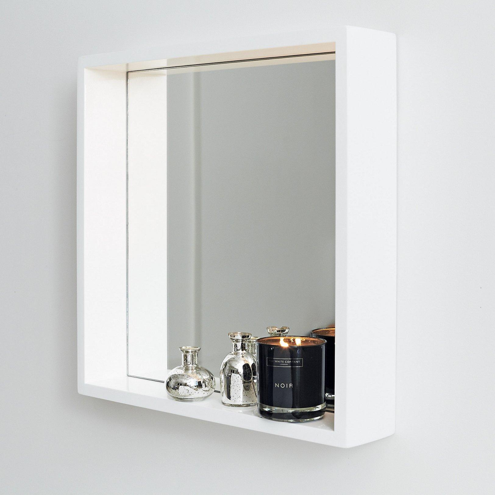 Bathroom mirror with shelf uk - Mirror Shelf White